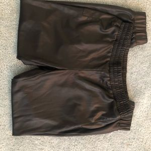 BeBe faux leather joggers